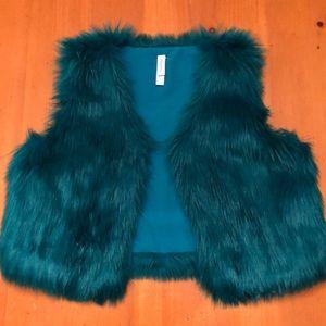 Girls Xhilaration faux fur vest